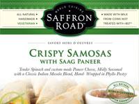 Crispy Samosas with Saag Paneer